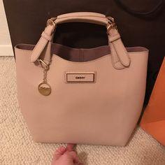 f496ef3cabdcc DKNY handbag DKNY BEIGE HANDBAG 100% real leather