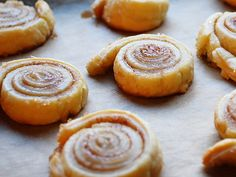 Cinnamon Roll Cookies Spread butter on thinly rolled dough and dust with a good amount of cinnamon and sugar, roll up jellyroll style and slice into ½ inch pieces, lay on a cookie sheet and bake.