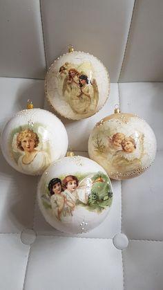 Shabby Chic Christmas Ornaments, Handmade Christmas Tree, Halloween Ornaments, Homemade Christmas, Christmas Angels, Holiday Ornaments, Christmas Tree Ornaments, Christmas Fun, Vintage Christmas