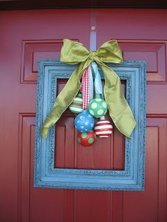 Cute Doorway Decoration - Different take on doorway wreath