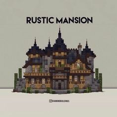 Minecraft Cottage, Cute Minecraft Houses, Minecraft Mansion, Minecraft Castle, Minecraft Plans, Amazing Minecraft, Minecraft House Designs, Minecraft Survival, Minecraft Blueprints