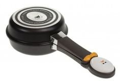 "New Joie Egg Face Nonstick 5"" Omelet Pan Easy Flipping Fry Pan Single Serving with a locking mechanism"