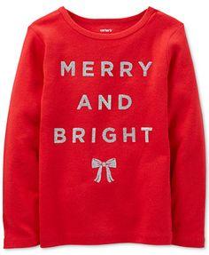 Carter s Baby Girls  Merry And Bright Tee Kids - Macy s dffac3b69c22