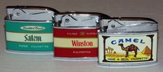 Set of 3 Vintage Cigarette Lighters: Salem Menthol Cigarettes ...