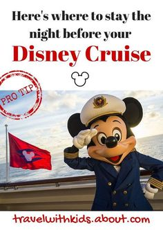 Pro tip: Don't fly in on the day of your cruise. Instead, arrive the night before and get to the port early. Here's where to stay before a Disney Cruise sailing out of Port Canaveral. | Disney Cruise Tips and Tricks |
