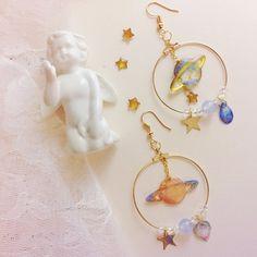 Cute Sweet Planet Pendant Earrings - Women's style: Patterns of sustainability Cute Earrings, Pendant Earrings, Vintage Earrings, Crystal Earrings, Drop Earrings, Diamond Earrings, Tassel Necklace, Unique Earrings, Vintage Jewelry