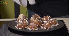 CHOUQUETTES de P. CONTICINI en vidéo (Pour 40 pièces – PATE : 69 g de lait demi-écrémé, 69 g d'eau, 61 g de beurre, 137 g d'œufs, 1,7g de sel, 3,8 g de sucre, 79 g de farine T55, sucre grain, sucre brun, fleur de sel) (CREME : 250 g de lait, 6 g de gousse de vanille, 40 g de jaunes d'œufs, 42 g de sucre, 12 g de maïzena, 10 g de farine T55, 4 g de feuille de gélatine, 20 g de beurre)