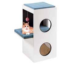 Arbre à chat Blanco design et moderne. #arbreachat #chat  http://www.animaleco.com/catalogue/chat/accessoires-chat/arbres-a-chat/arbre-a-chat-blanco