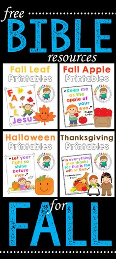 Free Bible Resources for Fall Preschool Bible Lessons, Fall Preschool, Bible Lessons For Kids, Bible Activities, Preschool Bible Crafts, Group Activities, Sunday School Activities, Sunday School Lessons, Sunday School Crafts