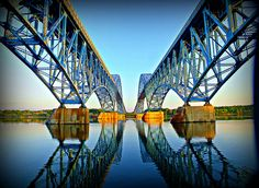 South Grand Island Bridges at Sunrise Buffalo, NY