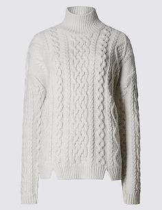 Oversized Cable Knit Jumper Clothing