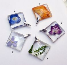 All Sterling Botanical Specimen in Resin Necklace by Beautiful2u, $22.00