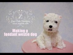 How to make a fondant / polymer clay Westie Dog - YouTube