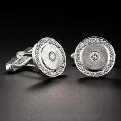 Palladium and Diamond Cufflinks by Lucian Piccard