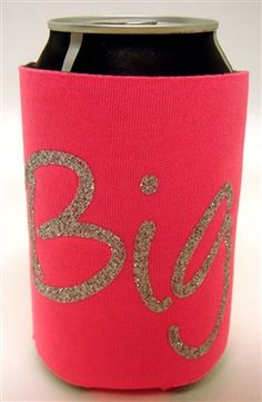 Glitter Big koozie! Custom Greek Apparel, Phi Mu, Greek Clothing, Drink Sleeves, Sparkle, Glitter, Big, Greek Outfits, Sequins