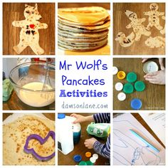 Mr Wolf's Pancakes by Jan Fearnley is a fantastic book to share with young children. We had lots of fun recreating the story. Pancake Day Eyfs Activities, Shrove Tuesday Activities, Activities For Kids, Pancake Day Crafts, Pancake Day Shrove Tuesday, Mister Wolf, Preschool Cooking, Traditional Tales, Alice And Wonderland Quotes