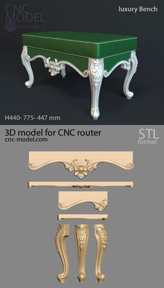 A1300 luxury Bench cnc-model.com 3D model for cnc router 3D furniture Painted Furniture, Diy Furniture, Furniture Design, Air Conditions, Dinning Table Design, Victorian Chair, Throne Chair, 3d Cad Models, 3d Max