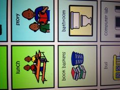 Visual schedule pieces Autism Classroom