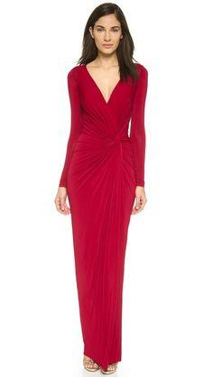 Donna Karan New York Plunge V Knot Dress