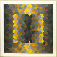 Victor Vasarely  all rigths reserved  Hommage à Hexagon (Hommage à La Hexagone)  Victor Vasarely (francês, 1908-1997)