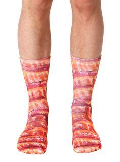 Bacon Crew Socks