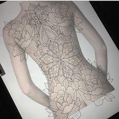 Ideas for first full back piece. - Tattoo Pins - Ideas for first full back piece. Backpiece Tattoo, Chicanas Tattoo, Tattoos Skull, Body Art Tattoos, Spine Tattoos, Yakuza Tattoo, Dragon Tattoos, Mandala Tattoo Back, Mandala Tattoo Design