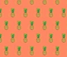 Fruit Salad Pineapples fabric by joyfulroots on Spoonflower - custom fabric