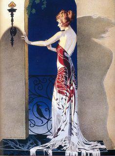 Art Deco and Art Nouveau! Posters Vintage, Retro Poster, Art Deco Posters, Vintage Art, Art And Illustration, Illustrations Vintage, Arte Art Deco, Estilo Art Deco, Art Nouveau