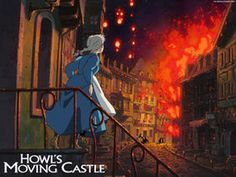 Howl's Moving Castle / Das wandelnde Schloss / Hauru no ugoku shiro Howl's Moving Castle Movie, Howls Moving Castle Wallpaper, Hayao Miyazaki, Stairs Background, Black Clover Wiki, Le Vent Se Leve, Shingeki No Bahamut, Warm And Cool Colors, Film D'animation