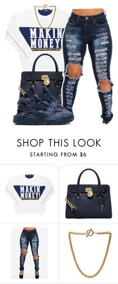 """""""Untitled #143"""" by itsteresa ❤ liked on Polyvore featuring Off-White, MICHAEL Michael Kors, NIKE and Forever 21"""