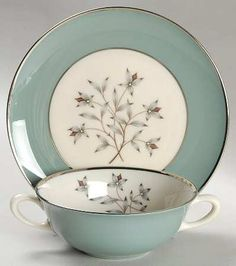 Lenox Kingsley at Replacements, Ltd - cream soup bowl and saucer