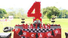 Sweet Table from a Disney Cars Birthday via Kara's Party Ideas | KarasPartyIdeas.com (20)