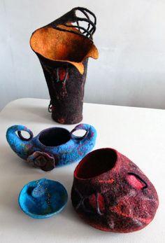 Felt Vessels by Heather Potten, photo by Sheila Masson