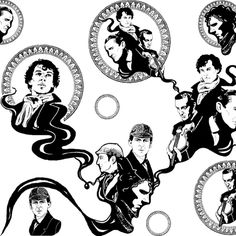 Sherlock Holmes Fabric Collection!  Check them out.  http://www.spoonflower.com/collections/19596