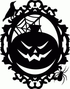 Silhouette Online Store: a2 jack o lantern pumpkin frame
