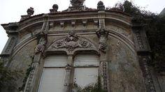 "Window details of Vila Nova De Gaia, Porto, Portugal - a ""palacete"" in need of restoration."
