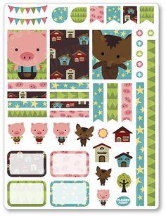 Porcellini di decorazione Kit / settimanale di PlannerPenny