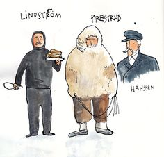 Amundsen's crew, Ximena Maier's least favourite Polar explorer. Wonderful illustration, though!