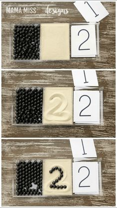 Pattern Play and Number Cards Pattern Play & Number Cards, 2 math activities to reinforce counting skills & visual discrimination, plus a literary component with the book Ten Black Dots // Montessori Materials, Montessori Activities, Kindergarten Math, Learning Activities, Preschool Activities, Toddler Learning, Early Learning, Play Number, Learning Numbers