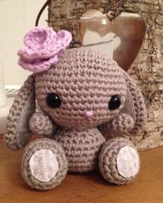 Crochet 'Spring Bunny' free pattern on All About Ami