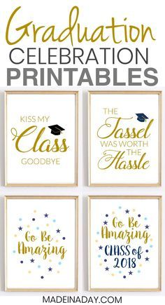 Looking for some great graduation printables to display for your special this year? Grab these Quotes: Graduation Printables for Party Decor, print them out, frame them and enjoy! Kiss my class goodbye printable, the tassel was worth Graduation Crafts, Graduation Food, Graduation Party Planning, 8th Grade Graduation, College Graduation Parties, Graduation Celebration, Graduation Decorations, Grad Parties, High School Graduation Quotes