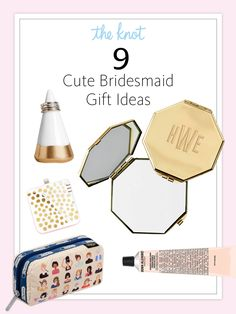 Wedding Gift Ideas The Knot : See the cutest bridesmaid gift ideas in The Knot Spring 2016 issue ...