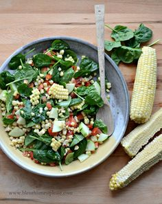 Sweet and Simple Fresh Corn Salad | Bless this Mess #recipe