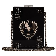 Chanel limited edition Card Casino Minaudiere of black plexiglass and brass, store fresh condition. Buy authentic rare Chanel handbags at Madison Avenue Couture Coco Chanel, Chanel Black, Burberry Handbags, Chanel Handbags, Purses And Handbags, Burberry Bags, Novelty Handbags, Mk Handbags, Chanel Clutch