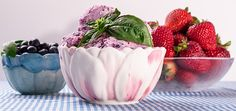 basil berry ice cream