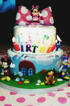 Birthday Cake Designed By Papi Angel  Mickey & Friends  (D'Anahi's 3rd Birthday Party ❤) Anything For His Tiny Queen