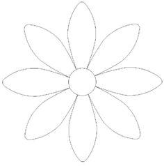 free applique patterns to print Flower Tin Flowers, Felt Flowers, Fabric Flowers, Paper Flowers, Quilting Templates, Applique Templates, Flower Applique Patterns, Embroidery Patterns, Motifs D'appliques
