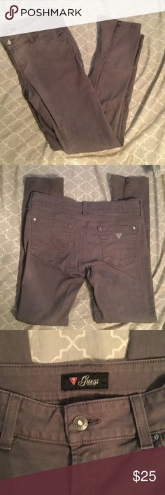 Guess Gray Skinny jeans Dark gray Guess skinny Jeans. EUC, perfect for upcoming winter and fall. Waist is 16 inches across. Guess Jeans Skinny