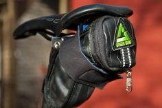 Portland-based Green Guru Gear makes bike gear, backpacks, wallets and other accessories from upcycled bicycle inner tubes and other used outdoor equipment. Photo: Green Guru Gear