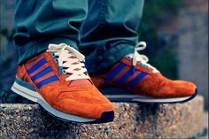 adidas Originals ZX 500: Red/Blue